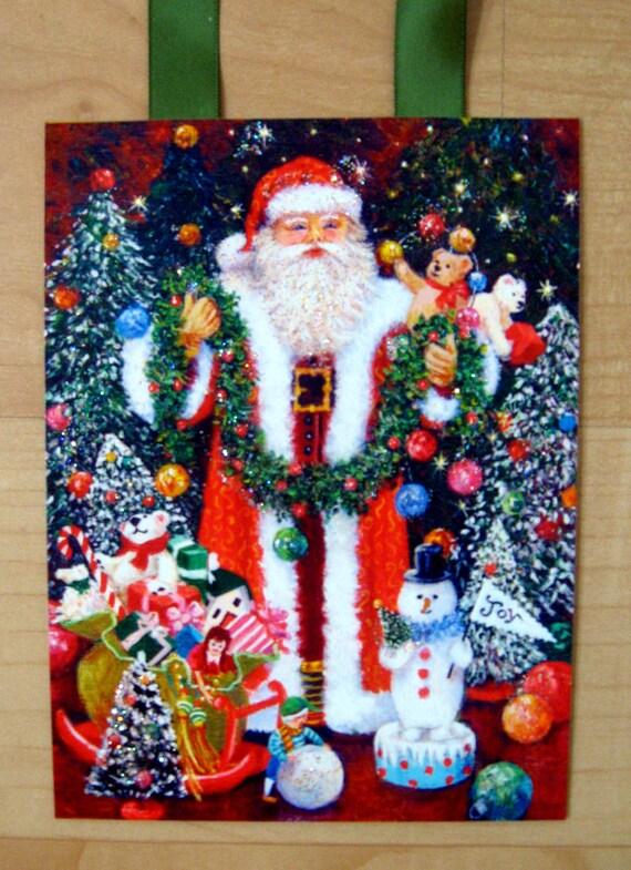 Santa Art, Santa Claus Print, Santa Decoration, Santa Art Print, Santa Card, Christmas Art