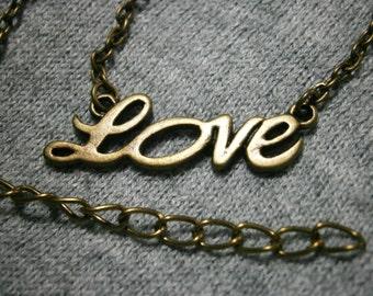 Love Necklace, Romantic Necklace, Love Pendant, Steampunk Jewelry