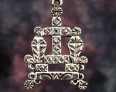 BARON SAMEDI VEVE - Solid Cast Voodoo Lwa Vodou Charm Pendant in Sterling Silver or Bronze