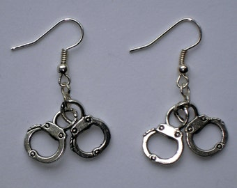 Mini handcuffs earrings