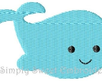 Whale 2 Machine Embroidery Design Mini