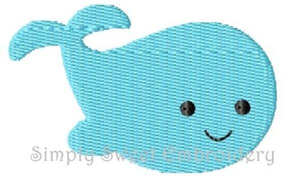 Whale 2 Machine Embroidery Design Mini
