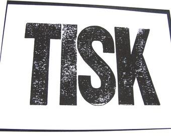 CARD / small print - tisk LETTERPRESS 5x7 - greeting card or mini print