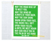 Irish Blessing Wall Decor Typography Poster St Patricks  Fine Art Print  Nursery  Print Wall Decor, mother's day gift idea, mothers day, mom