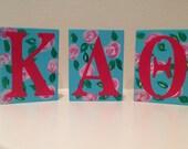 Kappa Alpha Theta shelf sitters wall decor sorority big lil