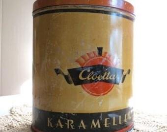 Vintage Canister Tin Made in Sweden