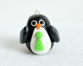 Polymer Clay Penguin Ornament