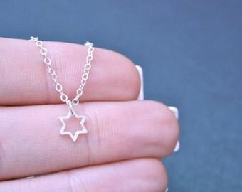 Teeny Tiny Star of David Necklace