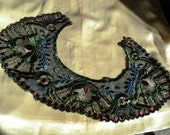 Edwardian to Early 20s Silk and Metallic Embroidered Collar Old Store Stock Great Colors