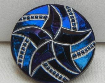 Five Point Star Czech Glass Button