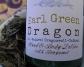 Earl Green Dragon Exotic Dragonwell Green Tea Infused NO Paraben Body Lotion with Italian Bergamot 8 oz.