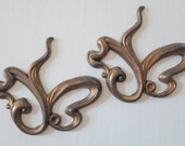 Oxidized Brass Deco Findings - Abstract Butterfly Heart - Unusual Brass Findings