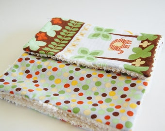 Burp Cloths - Jungle Adventure (set of 2)