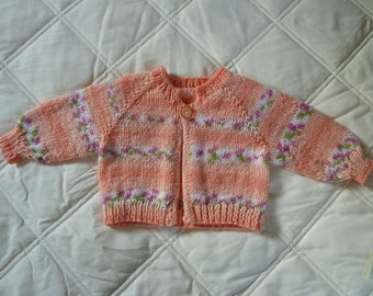 Cardigan Sweater in Peach