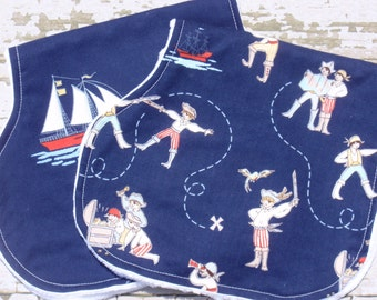 New-The Couture Mama Everyday Burp Cloth Set in Pirates , Baby Boy
