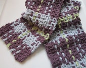 Blue, Green and Purple Plaid Scarf