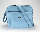Vintage Carry On Samsonite Light Blue Carry On Suitcase Luggage