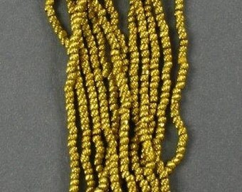EXTREMELY RARE - Antique Gold Torse Beads from circa 1870  Size 7