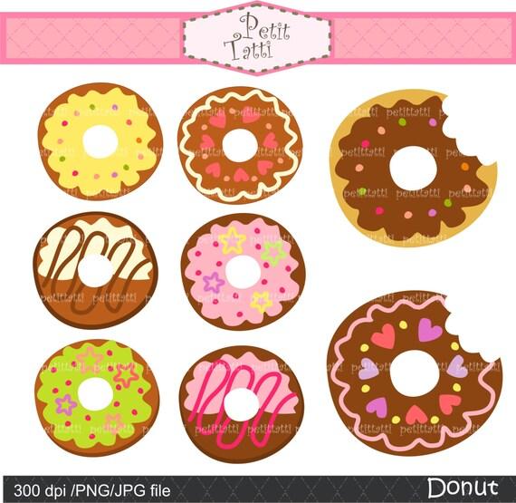 ON SALE Donut clip art cute donut kawaii Digital by petittatti