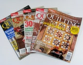 American Patchwork & Quilting Magazines 2003 / 2004 lot of 5 sewing/craft mags