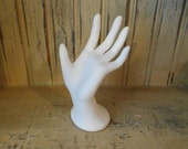 Ring holder hand display unfinished ceramic bisque ready to paint