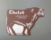 SALE Vintage menu Chalet steak house Anaheim cow
