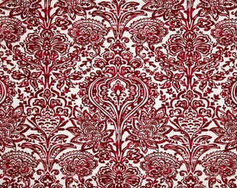 Red damask Body pillow cover - 20x54 - carmine decorative pillow cover