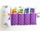 Frozen Crayon Roll - Frozen - Elsa and Anna crayon wallet girls christmas gift party favor disney inspired stocking stuffer toddler toy