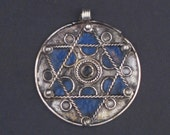 Star of David Pendant - Authentic Berber Pendant - African Pendant - Moroccan Judaica - Jewelry Making - Made in Morocco ** (PND-BRB-114A)