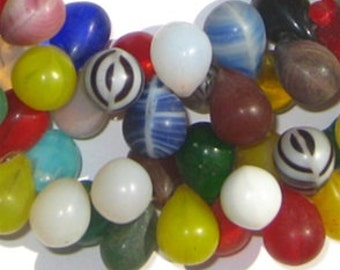 130 Mali Wedding Beads - Small African Trade Beads - African Glass Beads - Jewelry Making Supplies - Made in Mali ** (mali-wedding-203)