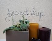 3 custom wire words //\\ kiss love friendship //\\ center piece //\\ wedding decor //\\ made to order