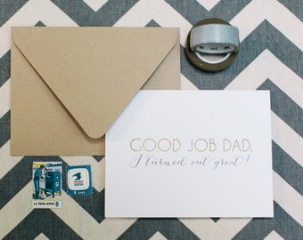 Funny Father's Day Card by Dodeline Design Charleston South Carolina