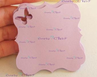 "45 Square Bracket Tags Size 3"" -Square Bracket Labels -Bracket paper die cuts -Bracket cardstock labels -Paper Bracket tags"