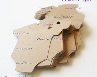 """280 Baby bodysuit Tags Size 2"""" -Baby Bodysuits tags -Paper Baby shirt die cuts -Cardstock Baby shower die cuts -Custom Bodysuit labels"""