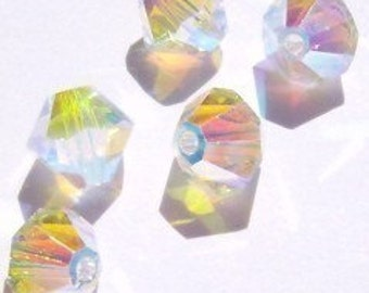 Swarovski Crystal Beads BICONE style 5328 crystal beads Crystal AB2X -- Available in 3mm, 4mm and 6mm