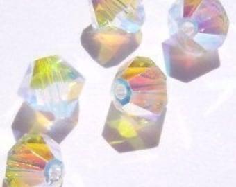 Swarovski Crystal Beads 4mm BICONE crystal beads Crystal AB2X