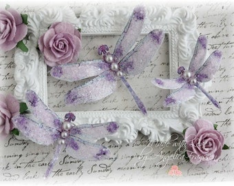 Mystic Dragonfly Embellishments Sweet Liliac for Scrapbooking, Cardmaking, Tag Art, Mixed Media, Wedding