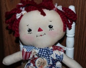 Patriotic Raggedy Annie Red White Blue Stars
