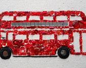 The wheels on the bus - beadwork embroidery kit