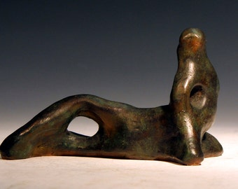 Bronze Sculpture Reclining Nude, after Henry Moore by Lazaroff bronze statue bronze carving fine bronze statue