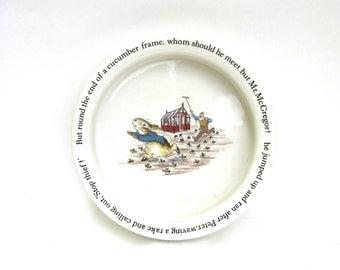 vintage beatrix potter ...    childs porcelain dish  ...   vintage wedgwood  ... easter present  ...  baby gift