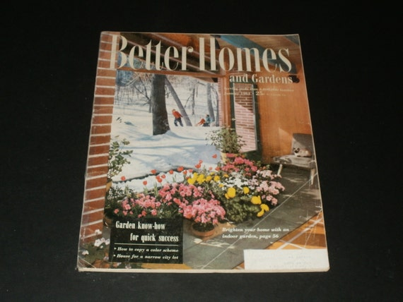 Vintage Better Homes And Gardens Magazine January 1954 Retro