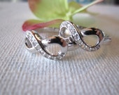 "Two Engraved Sterling Silver (""BIG"" and ""LITTLE"") Infinity Sorority Sisters Personalized rings, best friends forever, friendship, college"