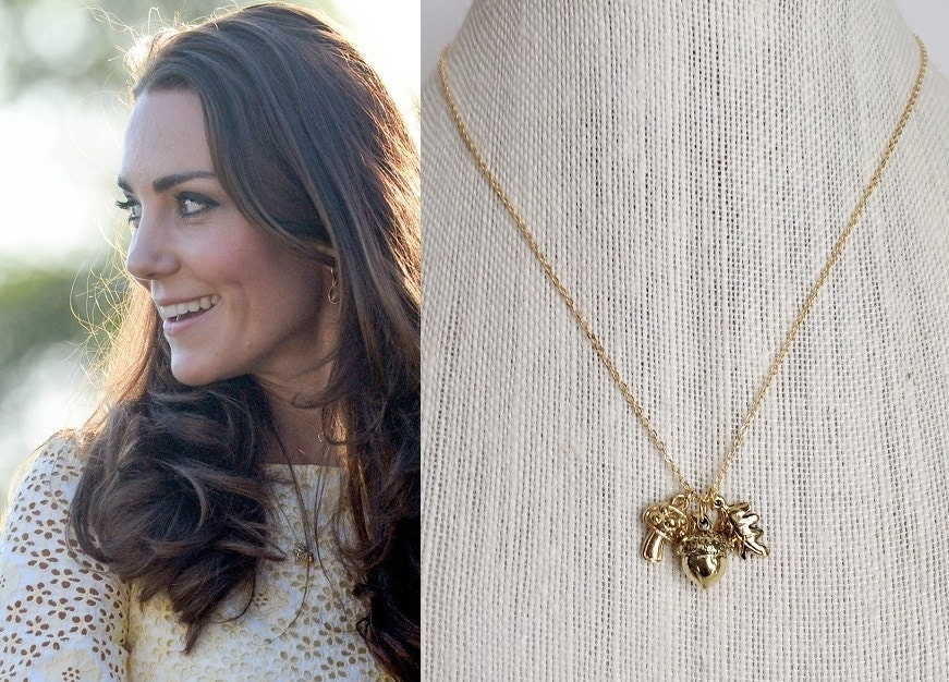 kate middleton nature charm necklace n573 by dbakerjewelry