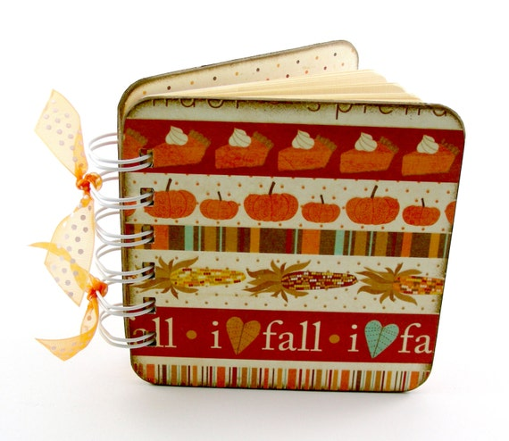 I Love Fall Gratitude book, spiral bound, Thanksgiving table, count your blessings, 100 pages, orange, brown,
