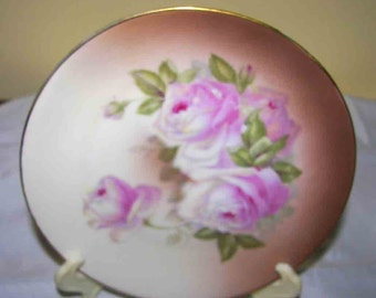 Antique    Z.S.& C Germany Bavaria Handpainted  Roses  plate Sale  was  27 now only 18