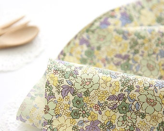 Lovely spring Yellow floral on Cotton, U080