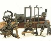 9 salvaged typewriter parts for your assemblage Steampunk project