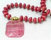 Pink Delight Gemstone Necklace