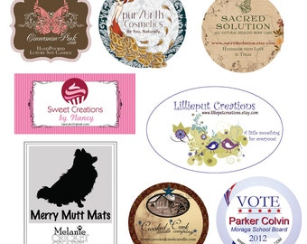 Custom Sticker Design, Thank you Sticker, Graphic Design, Favor Label Design, Monogram Labels, General Information Labels, Packaging Label